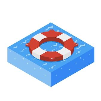 Lifebouy icon isometric