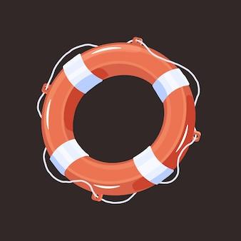 Спасательный круг спасательный круг для помощи тонущим людям. поплавок из твердого плавучего материала в