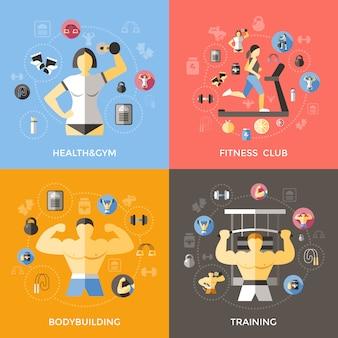 Lifestyle of bodybuilder concept