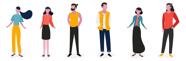 Lifestyle people character illustration design
