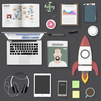 Lifestyle people gadget equipment vector illustration