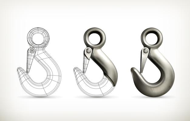 Lifting hook drawing illustration