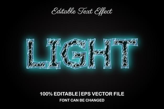 Light 3d editable text effect