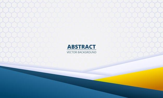Светлый абстрактный фон с диагональными линиями цветной градиентной бумаги и гексагональной сеткой.