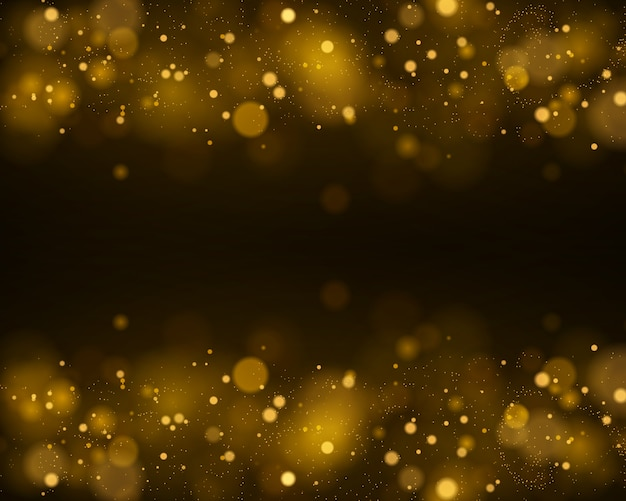 Light abstract glowing bokeh lights. bokeh lights effect isolated on black transparent background. festive purple and golden luminous background.