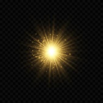 Легкие абстрактные светящиеся огни боке.