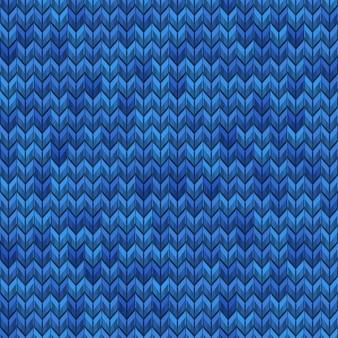 ライトブルーとダークブルーのリアルなシンプルなノイズニットのシームレスパターン。そしてまた含まれています