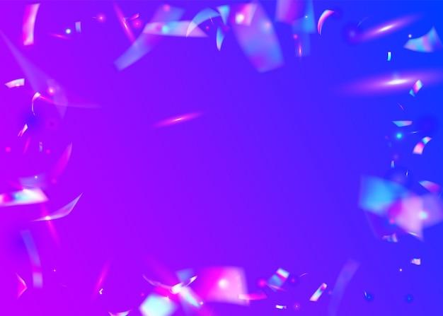 밝은 배경. 무지개 빛깔의 반짝임. 반짝이 예술. 파티 요소. 여러 가지 빛깔의 햇빛을 흐리게 합니다. 판타지 포일. 바이올렛 빛나는 질감. 네온 글레어. 푸른 빛 배경