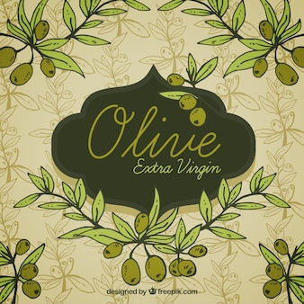 Light background with olives