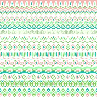 Light background with tribal pattern