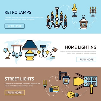 Light banners set
