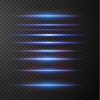 Световые лучи света в неоновом и синем