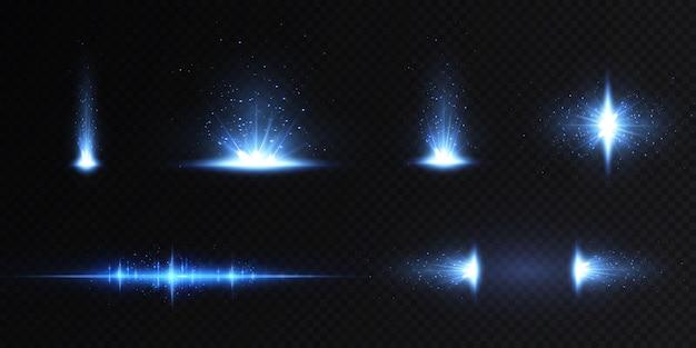 네온과 블루의 광선