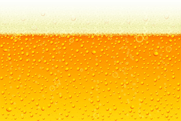 Light beer with foam background.