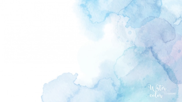 Light blue abstract watercolor background
