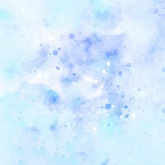 水色の抽象的な水彩画の背景