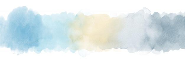 水色と灰色のグラデーションの水彩ストローク