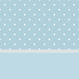 Light blue background with lovely white heart and sewing