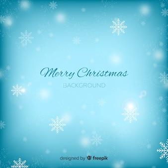 밝은 파란색 크리스마스 배경 흐리게
