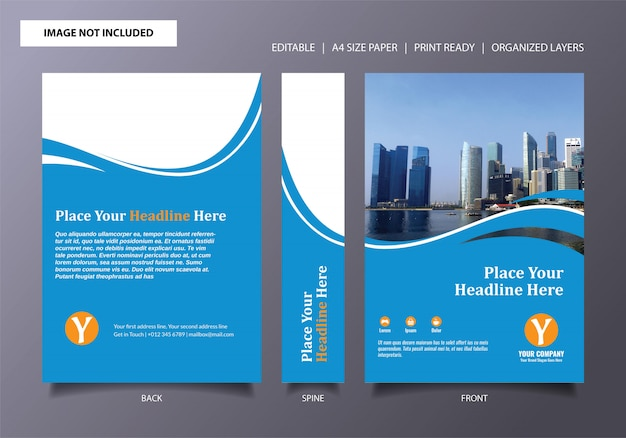 Light blue book cover template