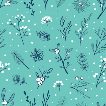 Light blue christmas pattern vector seamless wrapping paper pattern for christmas