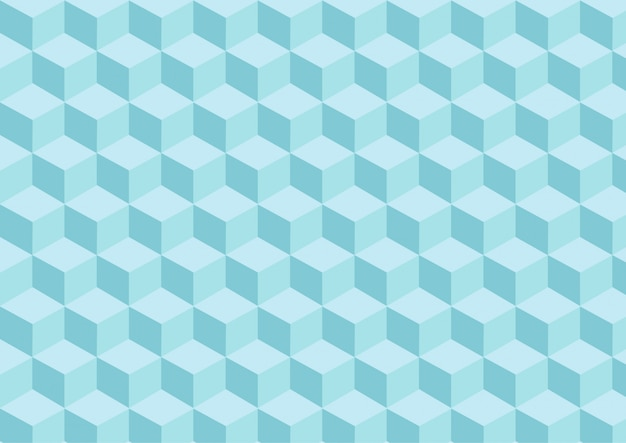 Light blue cubes pattern with tridimensional effect