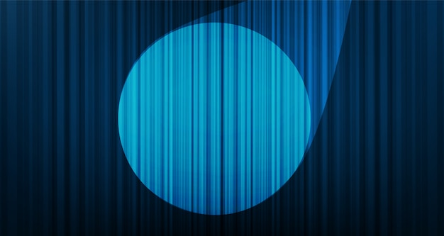 Light blue curtain background with stage light, hight quality and modern style.