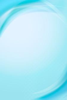 水色の曲線フレームテンプレート