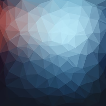 Light blue dark vector low poly crystal background
