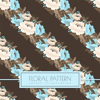 Light blue flower background seamless pattern