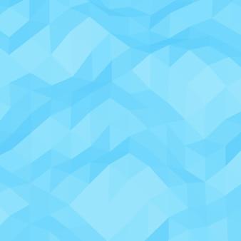 水色の幾何学的なしわくちゃの三角形の低ポリスタイルの背景