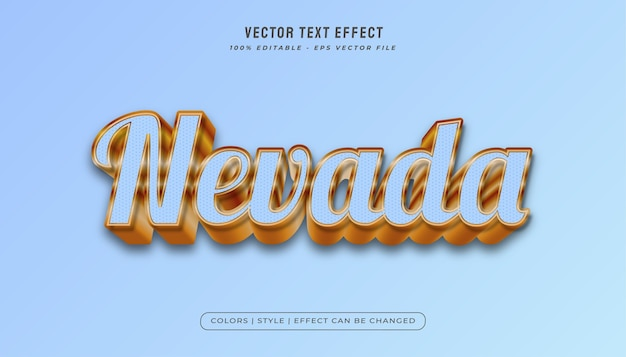 Light blue and gold text style with embossed effect