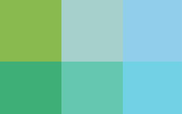 色のスペクトルを持つライトブルーグリーンベクトルパターン