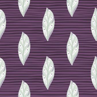 水色の葉の幾何学的なシンプルなシルエットのシームレス パターン。