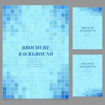 Sfondo di opuscolo mosaico azzurro