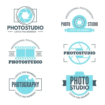 Light blue photo studio logotypes