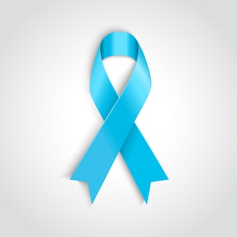 Голубая лента как символ рака простаты