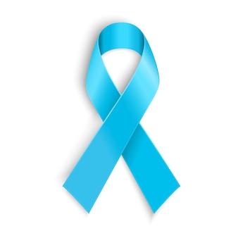 Light blue ribbon as symbol of prostate cancer Premium Vector