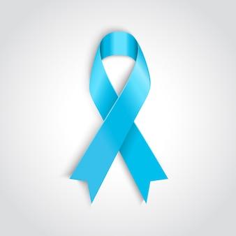 Light blue ribbon as symbol of prostate cancer