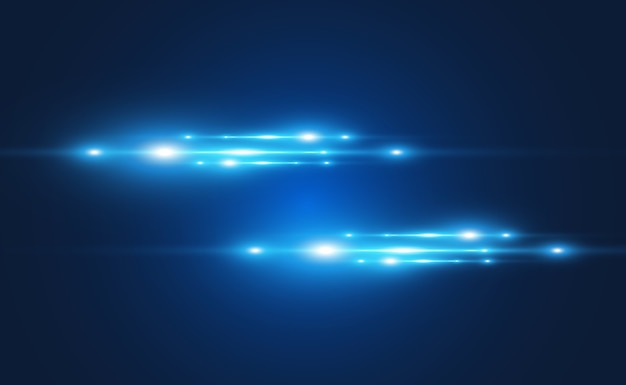 Light blue  special effect glowing beautiful bright lines