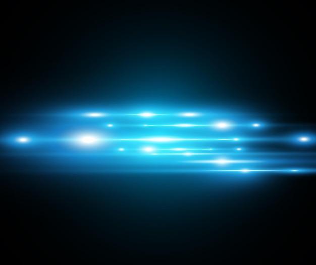 Светло-синий спецэффект. светящиеся красивые яркие линии