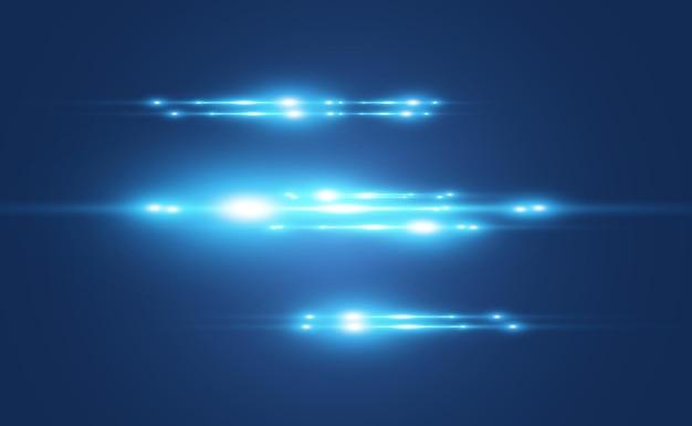Светло-синий спецэффект светящиеся красивые яркие линии