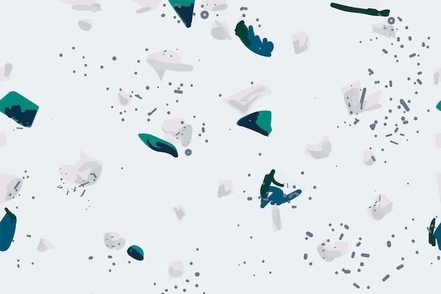 水色のテラゾ抽象的な背景のシームレス パターン