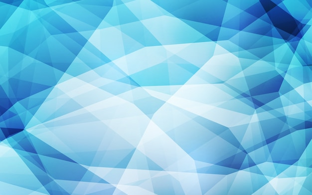 Light blue vector polygon abstract background.