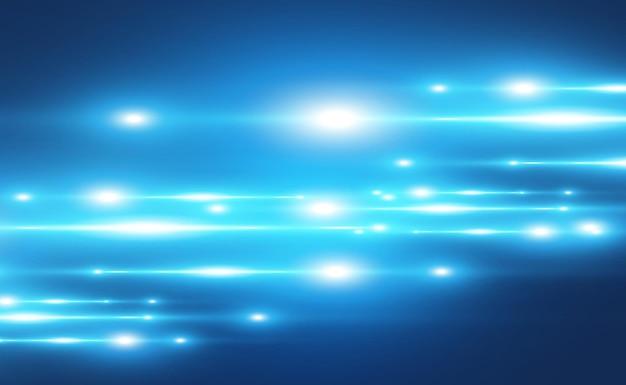 水色のベクトルの特殊効果暗い背景に美しい明るい線を輝かせます