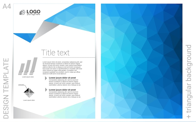 Light blue vector  template for landing pages