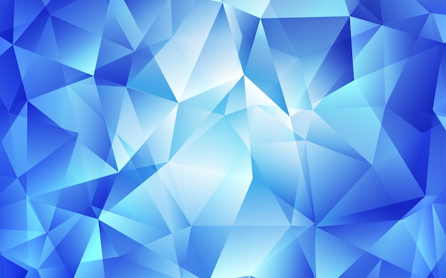 Light blue vector template with crystals, triangles.