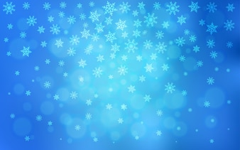 Light BLUE vector template with ice snowflakes