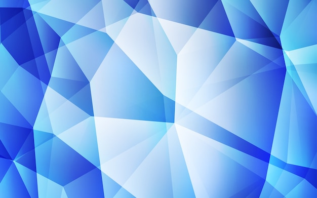 Light blue vector triangle mosaic cover.