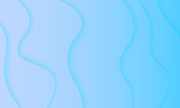 Light blue wave in paper cut style background. pattern for ads, leaflets.